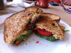 I've got Asheville on the brain today.  Grilled Pimento Cheese Sandwich at Early Girl Eatery.