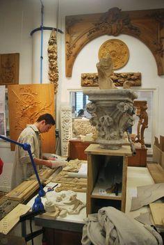 ORNAMENTAL WOODCARVER Patrick Damiaens: A visit to L'École Boulle in Paris | Wood carving and sculpture department | A Course Ornamental Wood Carving | Journée Portes Ouvertes