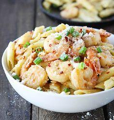 Spicy Parmesan Shrimp Pasta