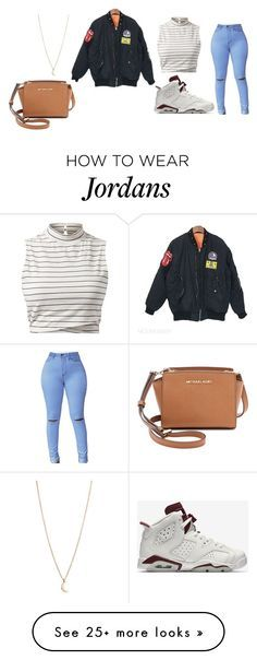 """""""Untitled #368"""" by marea2008 on Polyvore featuring Minor Obsessions, MICHAEL Michael Kors and NIKE"""