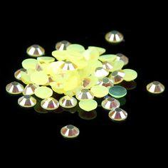 Citrine AB Resin Rhinestones 1000pcs 2-5mm Flatback Round Glue On Stones Non Hotfix Beads DIY Nails Art Phone Cases Decoration #Affiliate