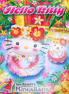 Hello Kitty x Spa Resort Hawaiians 2014