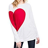 Leegor Women Valentine's Day Suit Heart Printed Basic Tops T-Shirt Simple Blouse Sexy Shirts, Casual Shirts, Blouses For Women, T Shirts For Women, Valentine T Shirts, Valentines, Women's Henley, Simple Shirts, Basic Tops