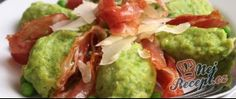 Recept Hráškové noky se slaninou a parmazánem Tuna, Guacamole, Tacos, Mexican, Beef, Fish, Ethnic Recipes, Meat, Pisces