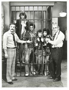 "The ""Sweathogs"" locked up in ""Barney Miller""'s cell."