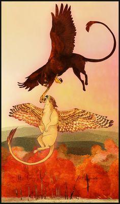 Gryphon Tarot - The Lovers by Bailiwick