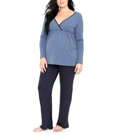 Take a look at this EGG Wedgewood Milkbar Maternity & Nursing Pajamas by EGG on #zulily today!