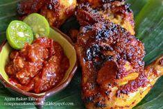 Resep Ayam Bakar Taliwang Asli Lombok NTB | Resep Masakan Indonesia Praktis Grilling Recipes, Meat Recipes, Asian Recipes, Ethnic Recipes, Chicken Spices, How To Cook Chicken, Sambal Recipe, Malay Food