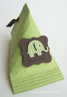 Green and Brown Elephant Baby Shower by BeautifulPaperCrafts, $15.00