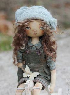 Коллекционные куклы ручной работы. Ярмарка Мастеров - ручная работа. Купить Василиса и лошадка. Handmade. Тыквоголовка, хлопок американский