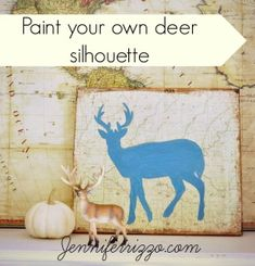 how to paint a deer silhouette step by step instructions