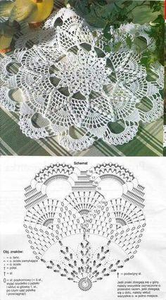 Filet Crochet, Crochet Doily Diagram, Crochet Doily Patterns, Crochet Chart, Thread Crochet, Crochet Motif, Crochet Designs, Crochet Lace, Crochet Stitches