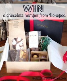 Win a chocolate hamper from Kokopod - Claire K Creations Christmas Hamper, Christmas Goodies, Chocolate Hampers, Spring Racing, Christmas Chocolate, Giveaways, Awesome, Amazing, Claire
