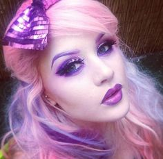Love Kelly Eden's pink and purple hair. This beautiful women is my makeup role model!! I love her!!
