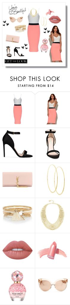 """Vestry Two Tone Bodycon"" by luxurylust-x ❤ liked on Polyvore featuring STELLA McCARTNEY, Yves Saint Laurent, Lana, River Island, BCBGMAXAZRIA, Lime Crime, Elizabeth Arden, Marc Jacobs, Linda Farrow and LIST"