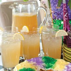 Bring a taste of the French Quarter to your Mardi Gras party with this Bourbon Street Lemonade.