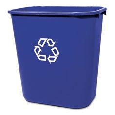 Rubbermaid Deskside Recycling Container - Recycling Containers $10.64