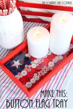 DIY Button Flag Tray