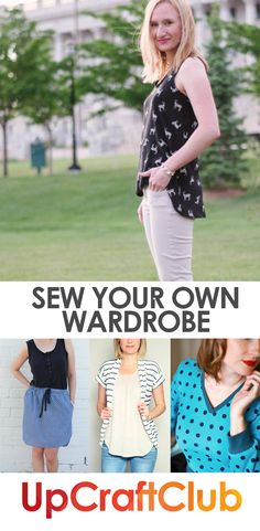 Make your own clothes with pdf sewing patterns from UpCraftClub.com. Flattering styles and easy to follow digital sewing patterns make the sewing process fun!