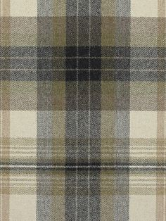 Ralph Lauren Fabric Duncanson Plaid-Stone $200.99 per yard #Interiors #Plaid #Decor