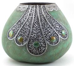 Southwest Gourds, Glass Marble inlay