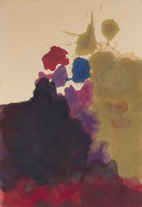 Helen Frankenthaler (American, 1928–2011) Untitled, 1962–1963.  Oil on canvas, 76 1/2 x 51 1/2 in.  From the Louis-Dreyfus Family Collection, courtesy of the William Louis-Dreyfus Foundation Inc.  © 2017 Helen Frankenthaler Foundation, Inc.  / Artists Rights Society (ARS), New York