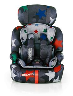 Cosatto Zoomi | Grey Megastar. The Daddy. Zoomi is the daddy of child car seats. In it for the long haul from tot to big kid. With sturdy support and unique safety features, this anti escape car seat is a handsome high-backed seat that is good at everything.