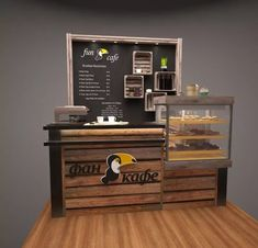 booths Drawing Tips easy animals to draw Cafe Bar, Cafe Shop, Coffee Shop Counter, Cafe Counter, Mini Cafeteria, Mein Café, Coffee Bar Design, Small Coffee Shop, Food Kiosk