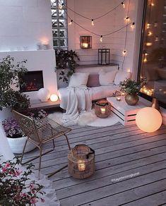 Small Balcony Decor, Balcony Design, Living Room Designs, Living Room Decor, Bedroom Decor, Home Improvement Loans, Interior Decorating, Interior Design, Luxury Interior