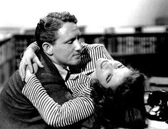 Spencer Tracy and Katharine Hepburn, WOMAN OF THE YEAR (1942).