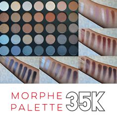 As of 10/6/2015 this paletter is back in stock!! Morphe 35K Koffee Eyeshadow Palette Swatches