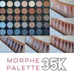 Morphe 35K Koffee Eyeshadow Palette Swatches