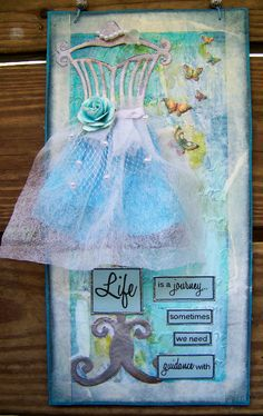 mixed media, dress form, wall hanging, Try this with framelit set?