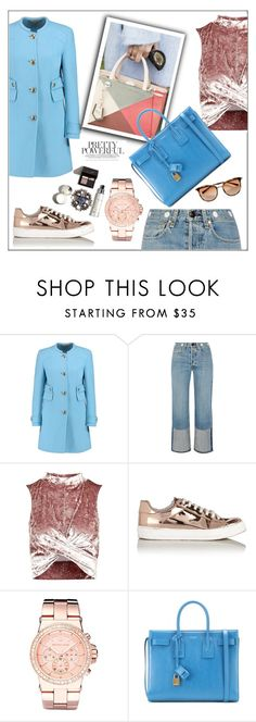 """""""Casual Monday"""" by frenchfriesblackmg ❤ liked on Polyvore featuring Emilio Pucci, rag & bone, Topshop, Miss Selfridge, Michael Kors and Yves Saint Laurent"""