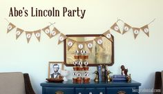 Abraham Lincoln themed birthday party