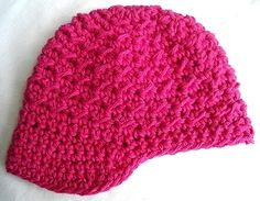 Baby Newsboy Hat, Newborn to 6 Month Size, Crocheted, Item#25    Handmade crocheted baby hat - newsboy style. Made of Hot Pink Bernat Handicrafter Cotton yarn. The cotton is soft and suitable for year round use. Great gift or photo prop! Ready to ship.    Size: will fit a newborn up to 6 months old    Care: For best results, wash in cold water and lay flat to dry.    This hat is available only in the color and size noted above.    Quantity Available: 1    Shipping Costs:  Within Canada…
