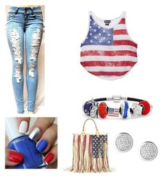 """""""Party in the USA"""" by kaylahca ❤ liked on Polyvore featuring Wet Seal, Tyler Rose Swimwear and Bling Jewelry"""
