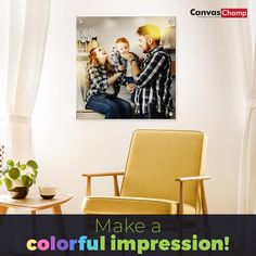 Save off on Custom Metal Prints. Transform your favorite photos into high-quality metal prints. Choose the best metal photo prints Online from CanvasChamp at lowest prices. Print Your Photos, Art And Technology, Custom Metal, Online Printing, Canvas, Prints, How To Make, Color, Tela
