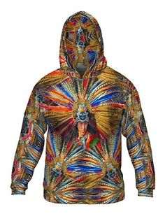 Aztec Tribal Warrior all-over printed Mens Hoodie Sweater by Yizzam. Make your style shine! Tribal Warrior, Sweater Hoodie, Hoodies, Long Sleeve, Sweaters, Men, Aztec, Fashion, Moda