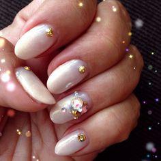 Subdued design for me  -  #nailart #gelnails #gel #japanesenailart #ilovenailart