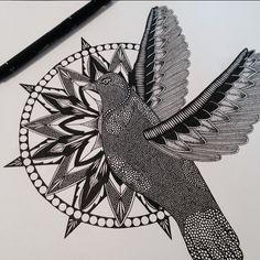 #mandala #zendala #dove #mandalatattoo #dovedrawing #blackwork #linework #stippling #zen #dotwork #zenart #illustration #bird #zentangle