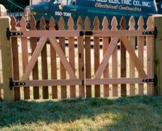 French gothic point picket double gate