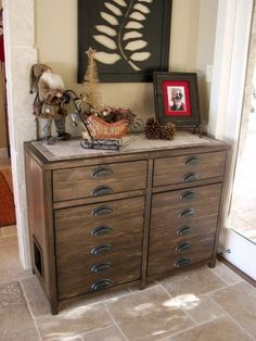 Printer's Console or Sneaky Litterbox Cabinet? | Do It Yourself Home Projects from Ana White