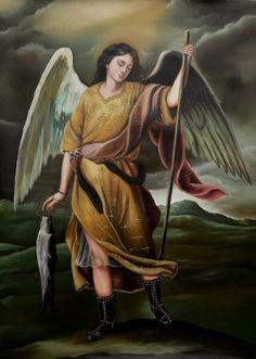 Angel Images, Angel Pictures, Angels Among Us, Angels And Demons, San Raphael, Angel Prayers, Biblical Art, Archangel Michael, Archangel Uriel