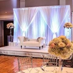 Wedding stage is an integral part of any wedding reception. Make the best out of the backdrop with these top 10 centre stage decoration ideas this wedding season. Wedding Stage Decorations, Engagement Decorations, Wedding Themes, Wedding Ideas, Engagement Ideas, Table Decorations, Diy Lace Trim, Wedding Mandap, Wedding Receptions