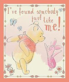 """Disney Winnie the Pooh Found Somebody Panel 100% cotton 44"""" Fabric by the panel"""