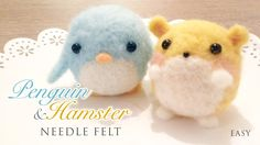 How to Needlefelt Penguin  Hamster - Kawaii ASMR Craft Tutorial - http://www.youtube.com/watch?v=pWV_3y7vcWw&feature=share