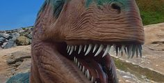 """The """"Apparently"""" Kid goes too see A Dinosaur  and what a cute reaction he gives...."""