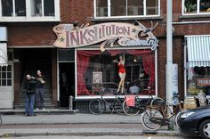 Inkstitution in Rotterdam.life size pin up would be perfect for the shop Pin Up Tattoos, Dream Tattoos, Life Tattoos, Tattoo Studio, Tattoo Salon, Tattoo Shop Decor, Manos Tattoo, Tattoo Signs, Tattoo Names