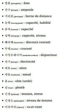 한국 [ APPRENDRE LE CORÉEN ] - Vocabulaire : Électricité et autre - Wattpad Phonetic Alphabet, Korean Lessons, Learn Korean, Korean Language, Stress, Vocabulary, About Me Blog, Learning, Words